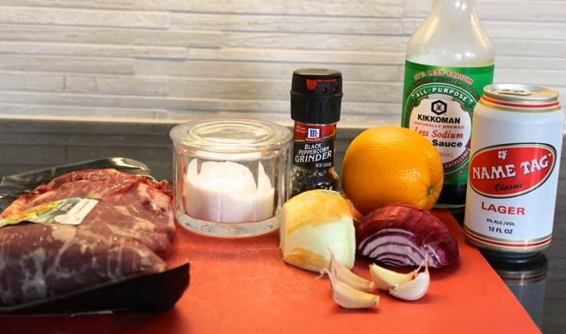 The steak ingredients